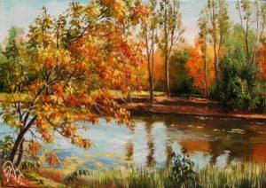 Картина акварелью осень010
