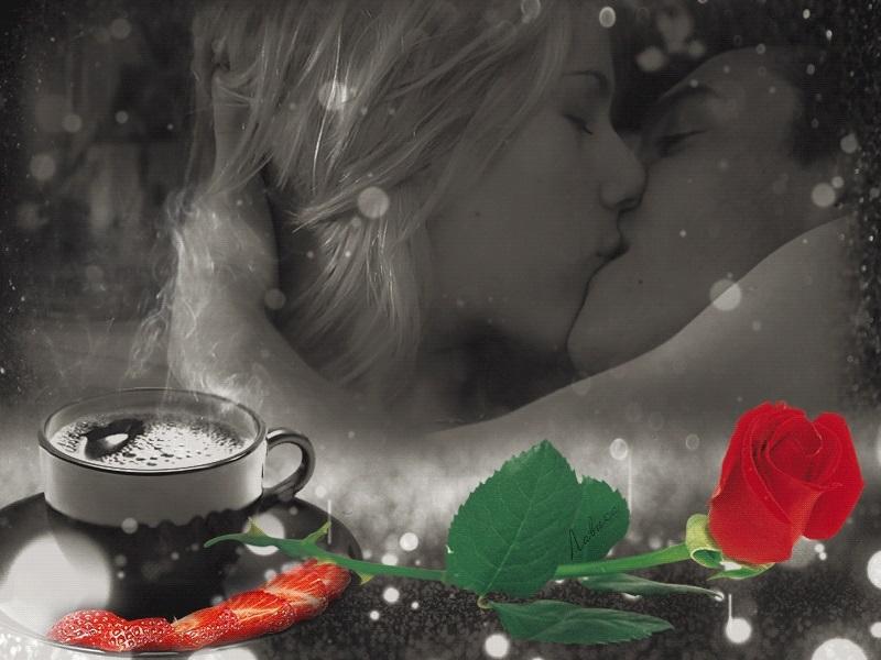 Картинки доброе утро девушке с поцелуем001