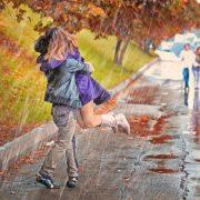 Картинки идет дождь осенью для детей 015