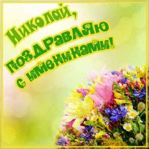 Картинки поздравления с именинами Николай 002
