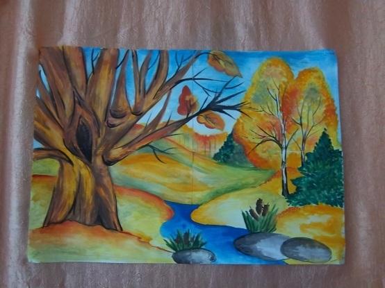 Красивые рисунки на тему золотая осень 013