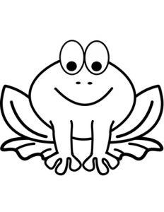 Лягушка мультяшная023