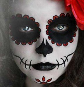 Макияж мексиканский день мертвых017