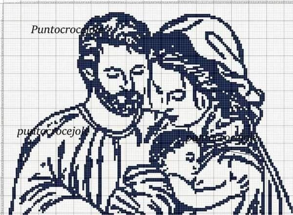 Мать и дитя схемы вышивки010