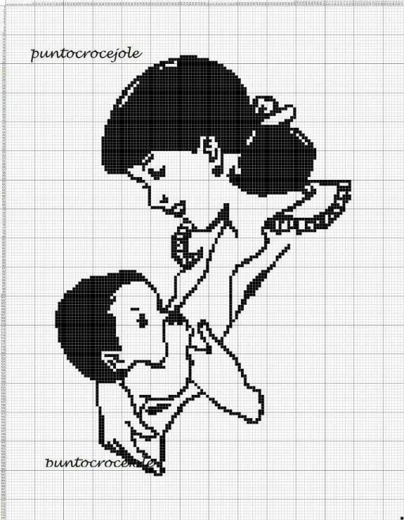 Мать и дитя схемы вышивки021