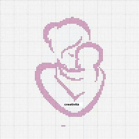 Мать и дитя схемы вышивки024