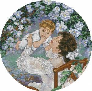 Мать и дитя схемы вышивки028