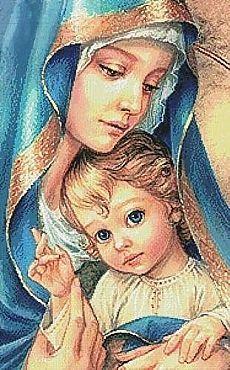 Мать и дитя схемы вышивки029