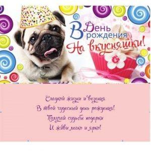 Мопс открытки с днем рождения005