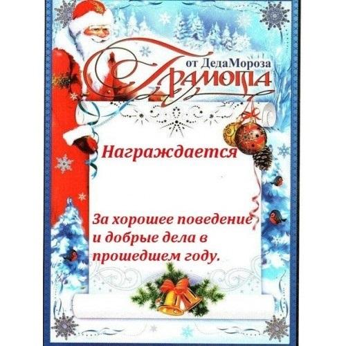 Новогодняя грамота от деда мороза016