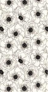 Обои на телефон Андроид цветы на черном фоне (7)