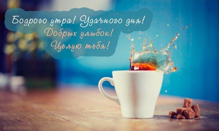 Открытка доброе утро и хорошего дня целую016