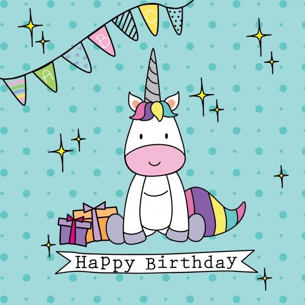 Картинки, открытки единороги с днем рождения