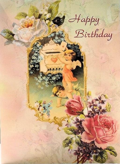 Поздравления с днем рождения мужчине ретро открытки, цветов картинки