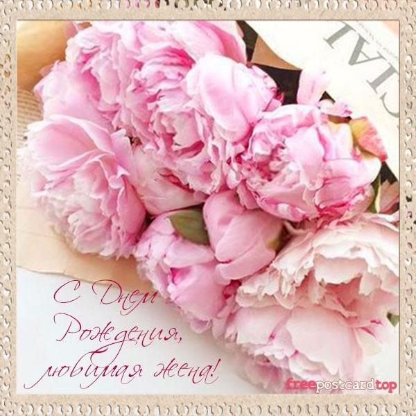 С днем рождения эля открытка с пионами, открытка девочке подростку