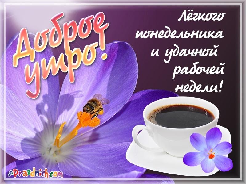 Доброе утро понедельника и удачной недели картинки