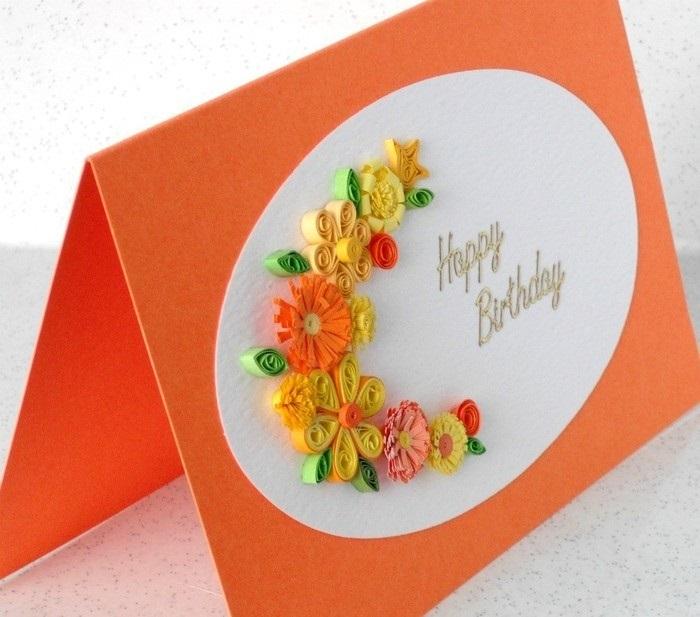 что открытка из квиллинга на день рождения пошагово вокруг земли