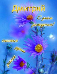 Открытки поздравления с днем рождения Дмитрий 005