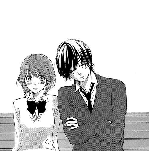 Парень и девушка аниме спят   арты (1)