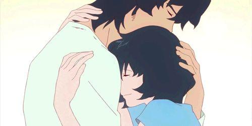 Парень и девушка аниме спят   арты (11)