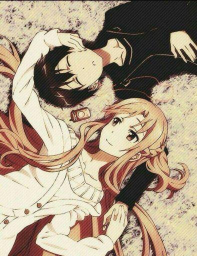 Парень и девушка аниме спят   арты (18)