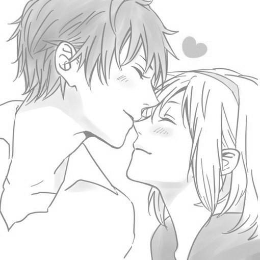 Парень и девушка аниме спят   арты (6)