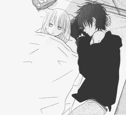Парень и девушка аниме спят   арты (7)