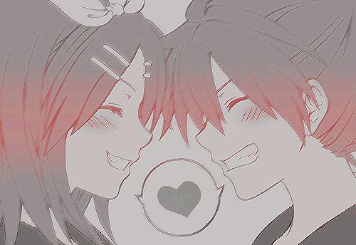 Парень и девушка аниме спят   арты (8)