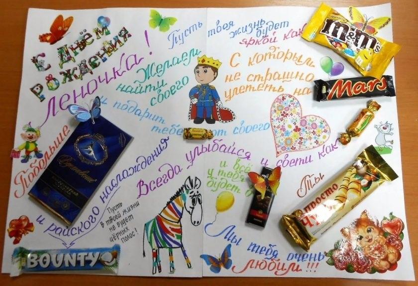 Плакат с фотографиями с днем рождения своими руками020