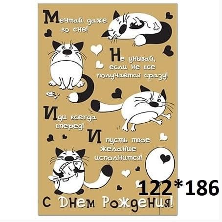 Поздравления с днем рождения открытки кошки017