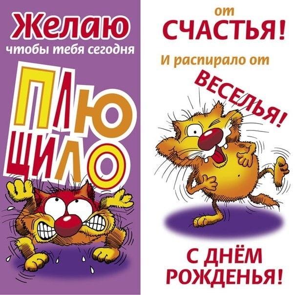 Приколы открытки с днем рождения девушке   смешные картинки 009