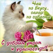 Прикольные открытки доброе утро с животными026