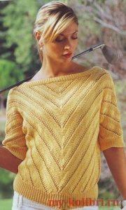Пуловеры из мохера вязаные спицами с описанием женские креативные023