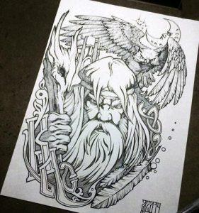 Рисунок Велеса карандашом013