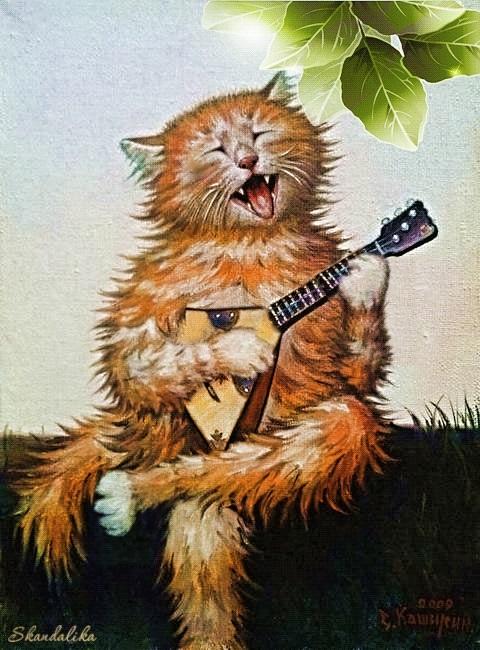 Рыжий кот открытка с днем рождения006