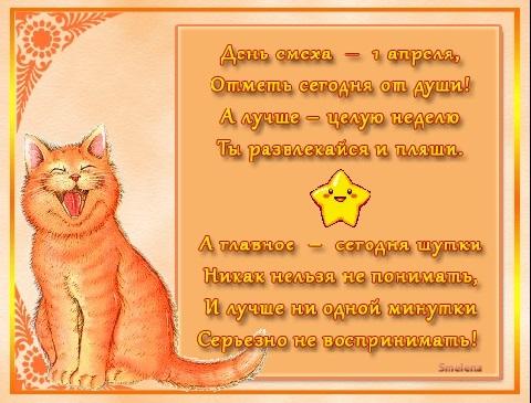 Рыжий кот открытка с днем рождения013