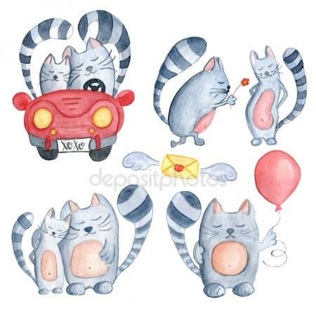 Рыжий кот открытка с днем рождения016