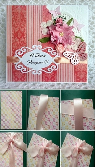 Красивые, скрапбукинг для начинающих пошагово с фото открытка с днем рождения маме