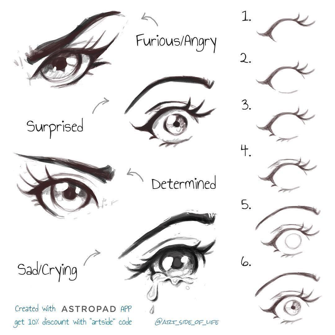 Стили рисования глаз   фото (4)