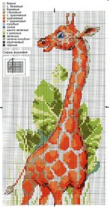 Схема вышивки жирафа006