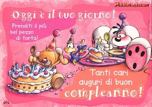 С днем рождения итальянская открытка013