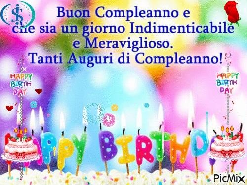 С днем рождения итальянская открытка014