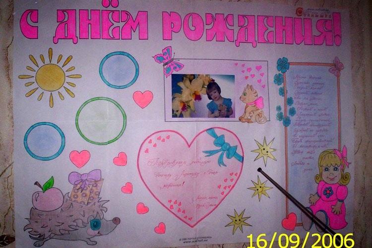 С днем рождения красивый плакат023