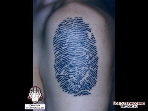 Тату отпечаток пальца021