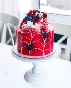 Торт для мальчика с человеком пауком фото027
