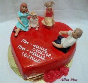 Торт с днем рождения муж и папа012