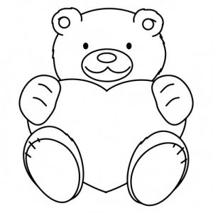 Трафарет для детей мишка018
