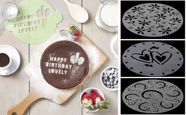 Трафарет надписи с днем рождения на торт025