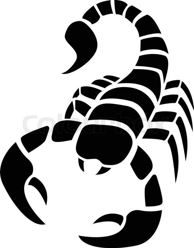 Трафарет скорпиона   отличные картинки, изображения (2)