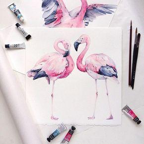 Фламинго обои на айфон красивые и классные (1)